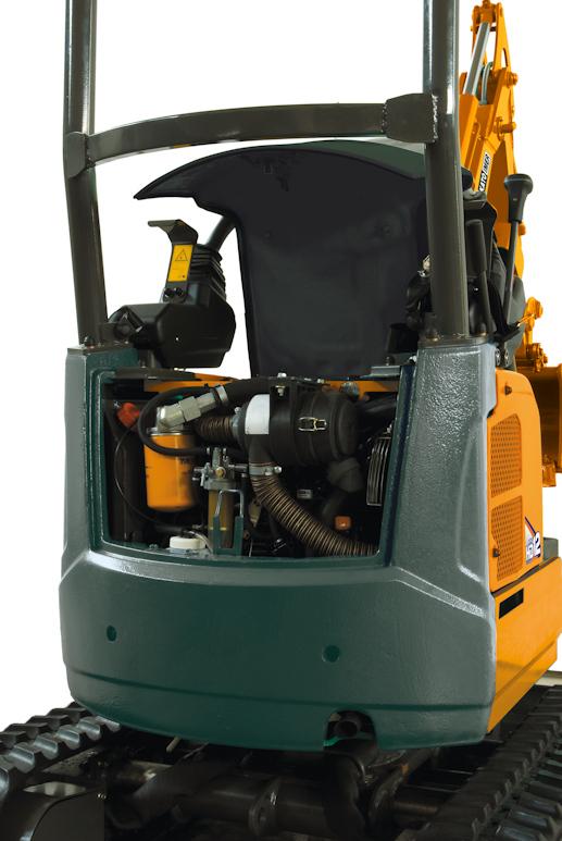 KATO 12 VXE Minibagger mit 9,5 kW Motor