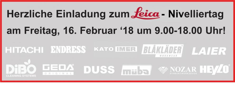 Einladung Leica Nivelliertag 2018