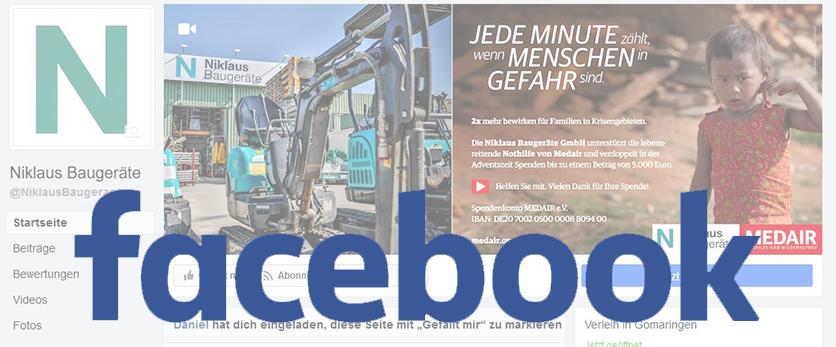 Niklaus Baugeräte bei Facebook