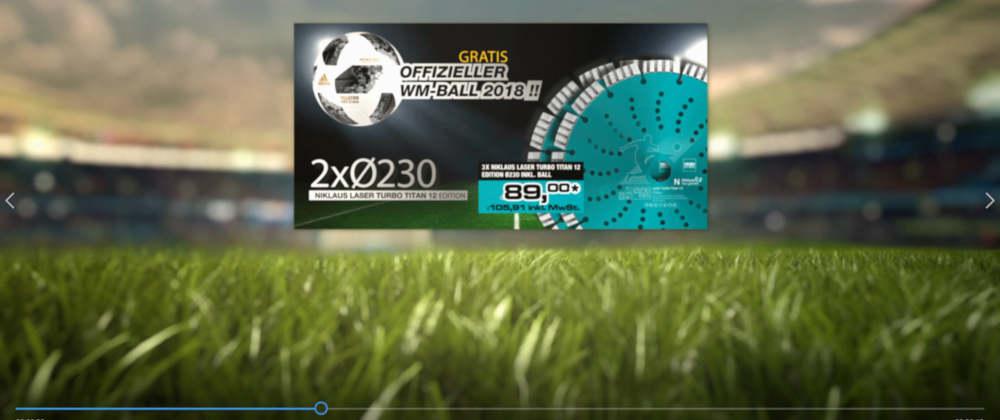 Diamant-Trennscheiben von Nozar als WM-Aktion.