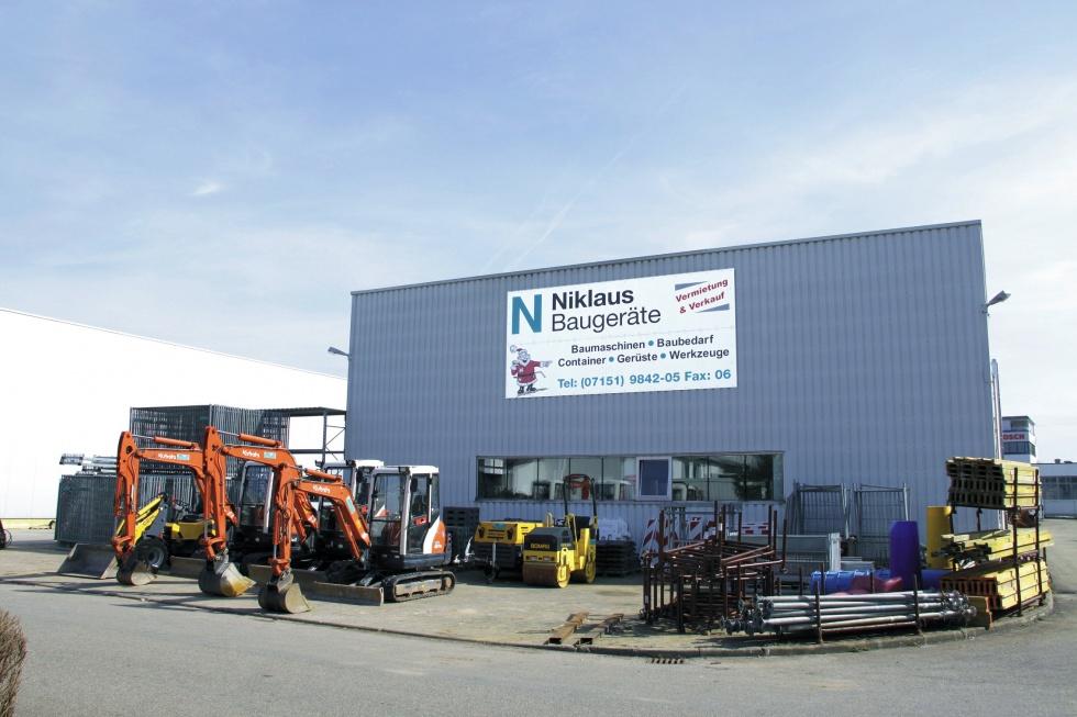Baumaschinen mieten oder kaufen bei Niklaus Baugeräte in Remshalden bei Stuttgart