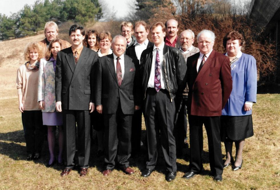 Familie und Belegschaft der Übergang ist auch heute noch fließend