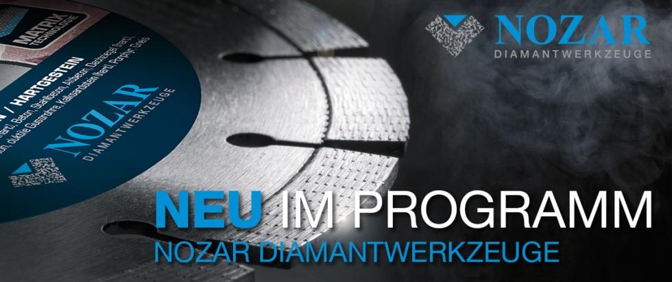 NOZAR Diamantwerzeug günstig mieten bei Niklaus Baugeräte, Trennscheiben, Diamantbohrer und vieles mehr bei uns im Angebot.