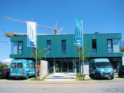Service und Verwaltung im einem Gebäude bei uns Niklaus Baugeräte in Gomaringen