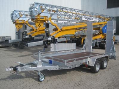 Baumaschinen Transportanhänger für Minibaggern, Kompaktlader oder Grabenwalzen, alles bei Niklaus Baugeräte,