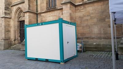 Raumcontainer im Einsatz