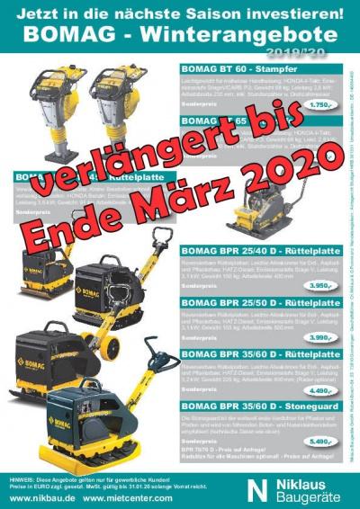 BOMAG Stampfer und Rüttelplatten-Angebot verlängert
