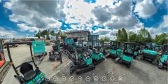 360-Gradansicht des Maschinenparks in Gomaringen bei Tübingen