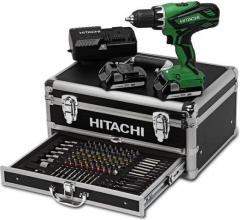 Hitachi Akkuschrauber DS18DJL in der 100tlg. Power Box Set 18 V
